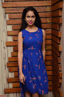 Pallavi Dora Actress in Sleeveless Blue Short dress at Prema Entha Madhuram Priyuraalu Antha Katinam teaser launch 004.jpg