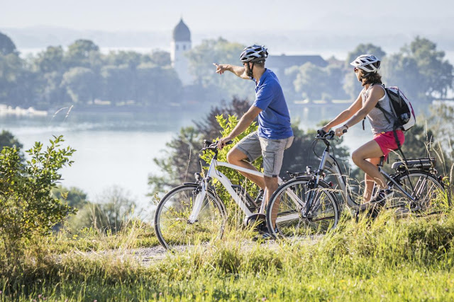 Mountainbiker im Chiemgau
