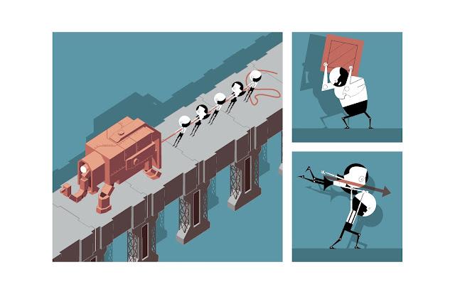 roboter, elefant, labor, jpeg