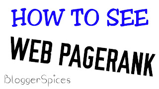 HOW TO SEE ANY WEB PAGERANK