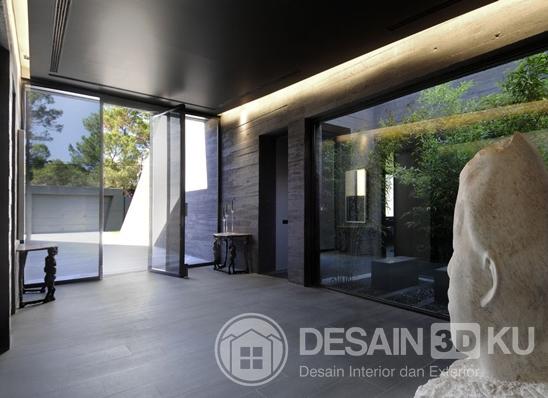 Model Rumah Minimalis Terkini Dengan Taman Yang Cantik