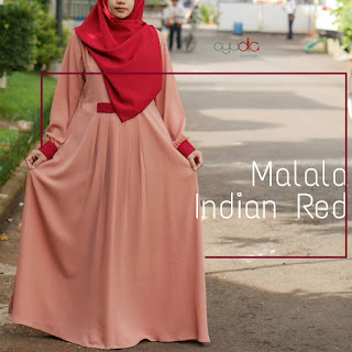 Gamis Ayudia Malala Indian Red