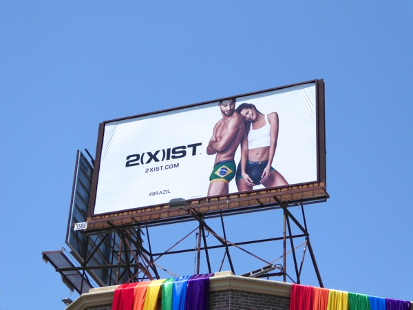 2Xist Brazil underwear Summer 2016 billboard