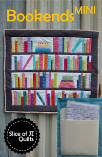 Bookends Mini bookshelf library book quilt pattern