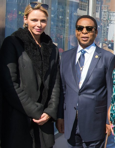 Princess Charlene, former US President Barack Obama, President Cyril Ramaphosa and King of the Zulu attend Nelson Mandela International Day