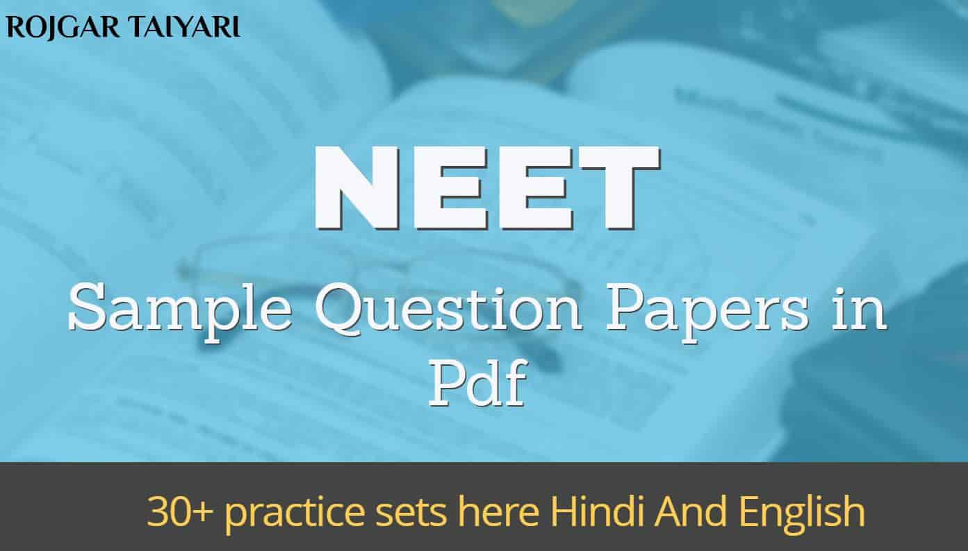 Neet Sample Papers Pdf In Hindi