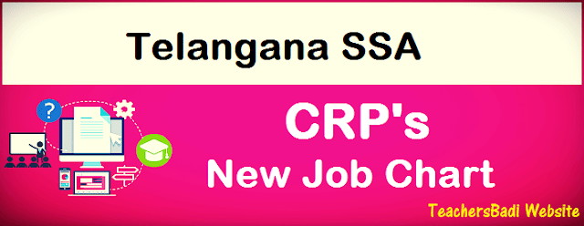 TSSA,Cluster Resource Person's,CRP's,Job Chart