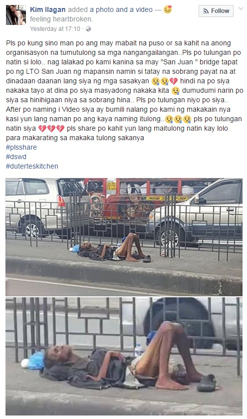 Model Kim Ilagan's Heart Breaks for This Homeless Old Man, Pleads for Help From Netizens!