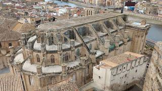 La Catedral de Tortosa desde su Castillo.