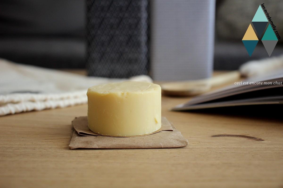 crème naturelle solide au beurre de karité Comme Avant