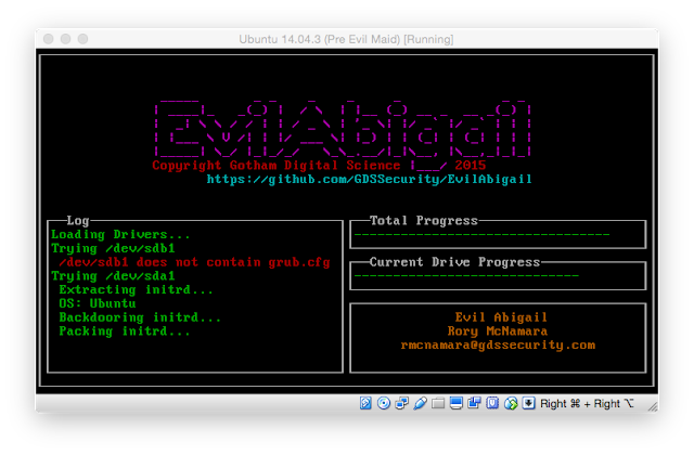 EvilAbigail - Automated Linux Evil Maid Attack