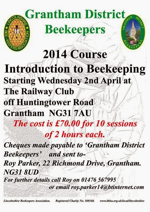 Grantham beekeepers, Introduction to bee keeping course.