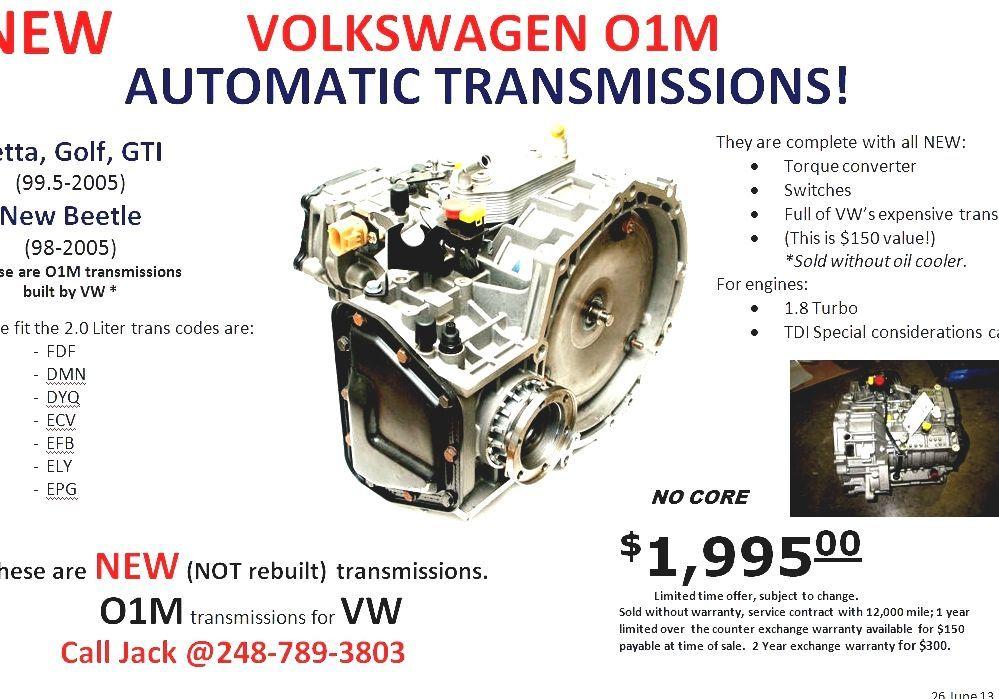 Volkswagen 01M Transmission - Vw Golf Transmission