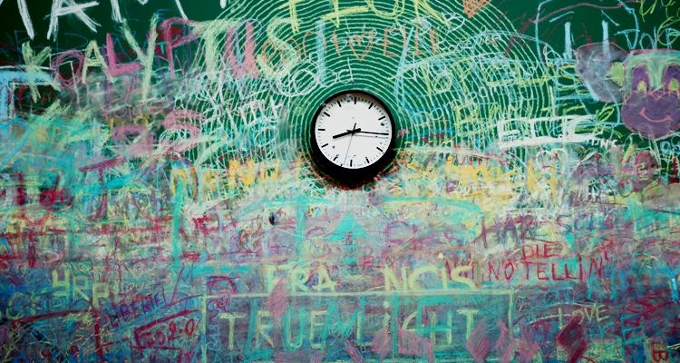 szkoła tablica zegar