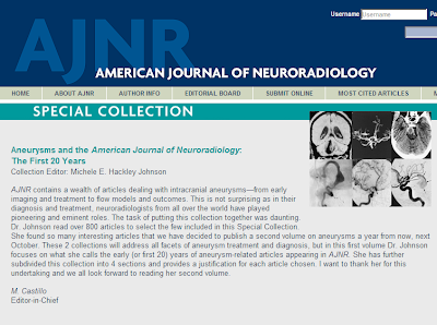 AJNR cerebral aneurysms special collection