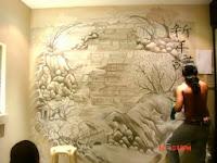 Jasa Lukis Dinding 3D dan Lukis Dinding Cafe