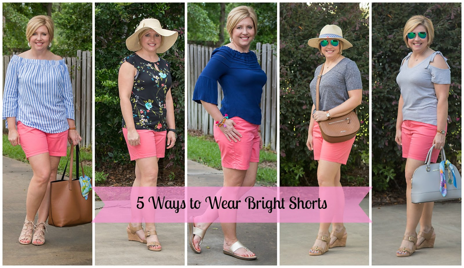 5 ways to wear bright shorts