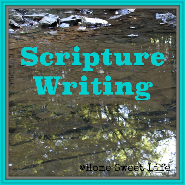 Scripture Writing, meditating on Scripture, Bible study
