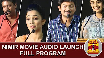 Nimir Movie Audio Launch : FULL Program | Udhayanidhi Stalin | Samuthirakani | Thanthi Tv