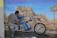 Malowanie Harley Devidson, Warszawa, malarstwo ścienne