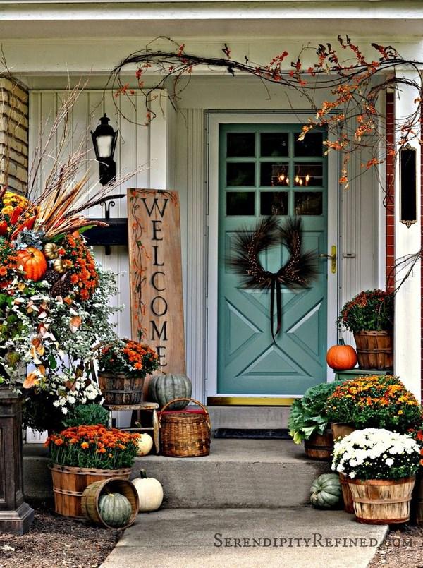 10 puertas decoradas para el oto o for Decoracion puerta otono