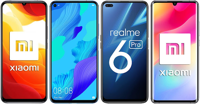 Xiaomi Mi 10 Lite 5G vs Huawei Nova 5T vs Realme 6 Pro vs Xiaomi Mi Note 10 Lite