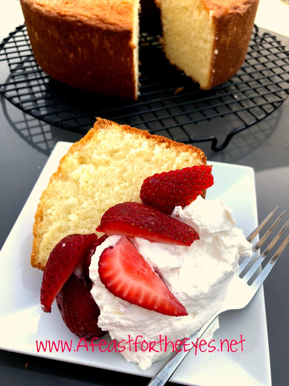 Cold Oven Almond Pound Cake Recipe