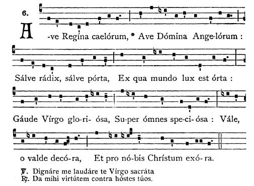 Resultado de imagen de Ave Regina Caelorum