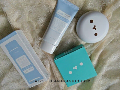 KULIT CANTIK DAN GLOWING DENGAN KLAIRS MOCHI BB CUSHION PACT DAN KLAIRS MID DAY BLUE SUN LOTION
