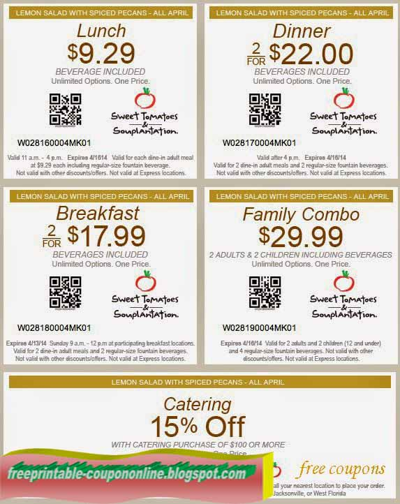 Sweet tomatoes family coupon april 2018