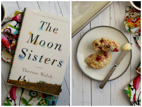 <b>Cranberry Biscuits</b> inspired by The Moon Sisters - book tour + giveaway