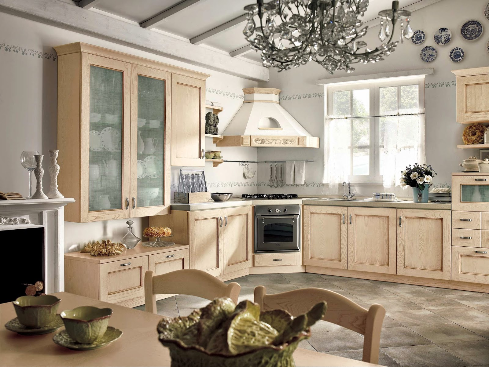 Piastrelle dietro cucina country decorazione cucina