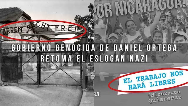 Gobierno Sandinista Retoma El Eslogan Nazi