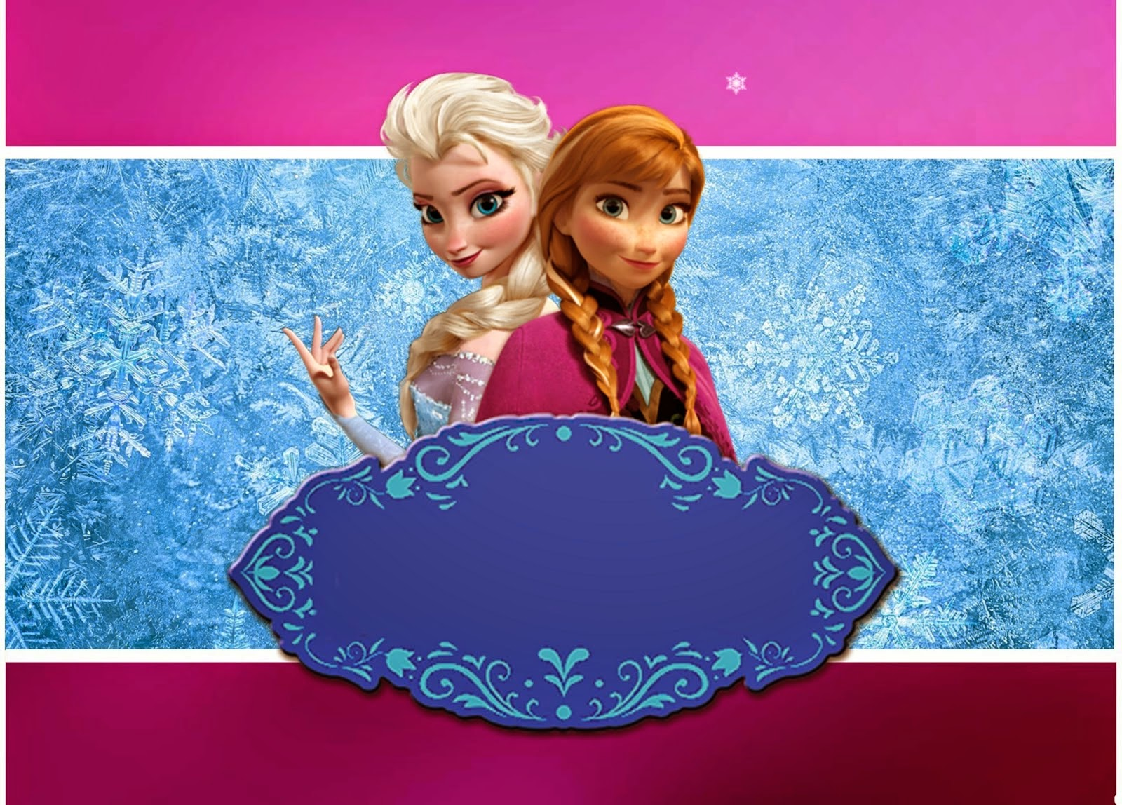 Frozen: Invitaciones, Tarjetas, Marcos de Fotos o Etiquetas.