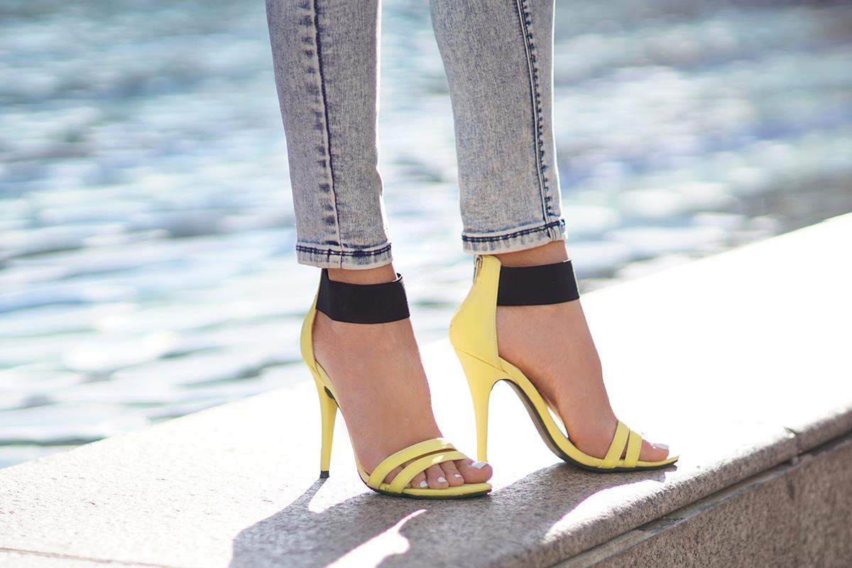 shoes Sleeh - buty szpilki cytrynowe żółte