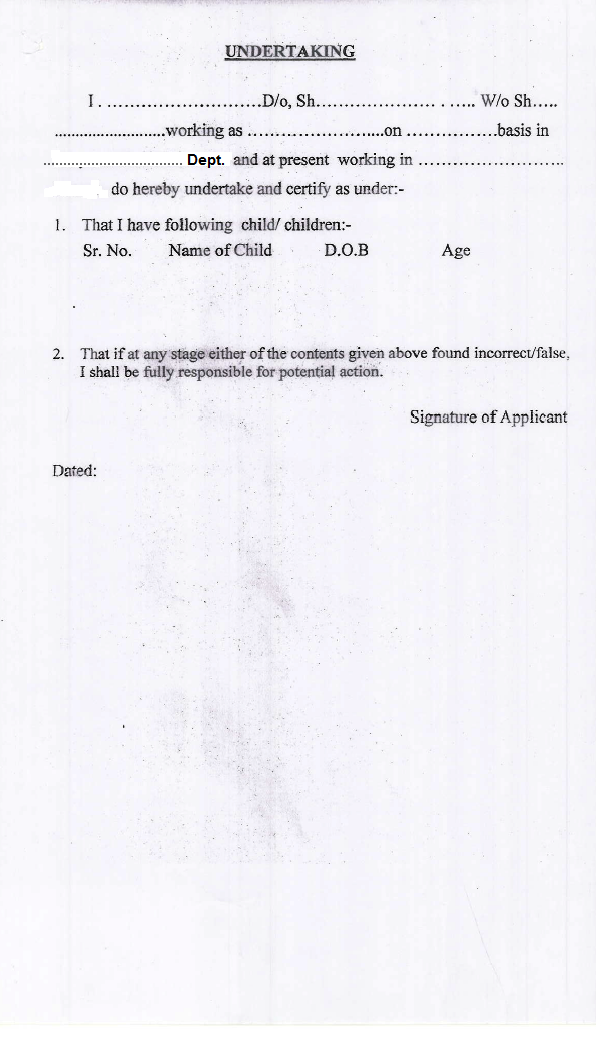 Harana CCL application form, Check list and undertaking - TEACHER ...