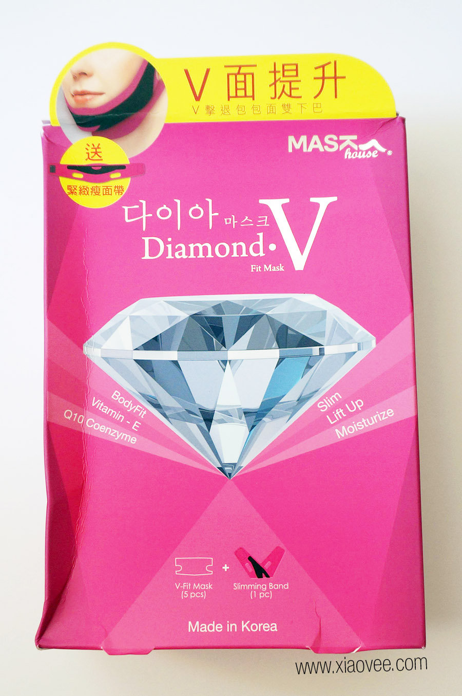 Mask House Diamond V Fit Mask Review, Korean face slimming mask