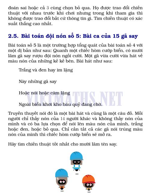 bài toán của 15 gã say, bai toan cua 15 ga say ruou