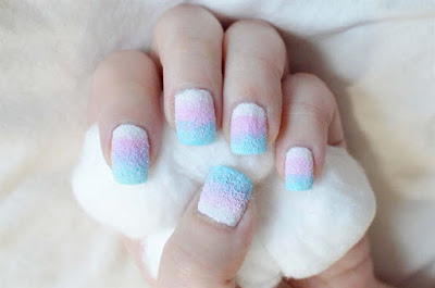 Cotton Candy Nail Design