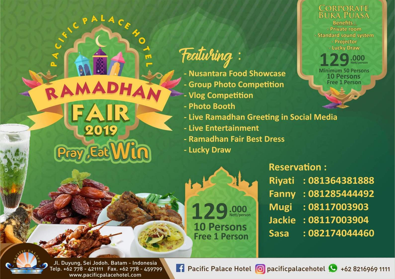 Komunitas Blogger Provinsi Kepri Ramadhan Fair 2019 Di Pacific Palace Hotel Batam