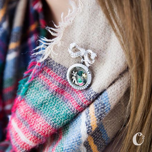 Origami Owl Pavé Bow-quet Locket Clasp | Get yours now at StoriedCharms.com