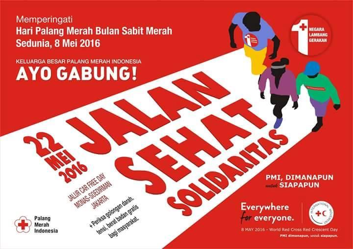 Jalan Sehat Solidaritas PMI Jakarta 2016 bulan Mei