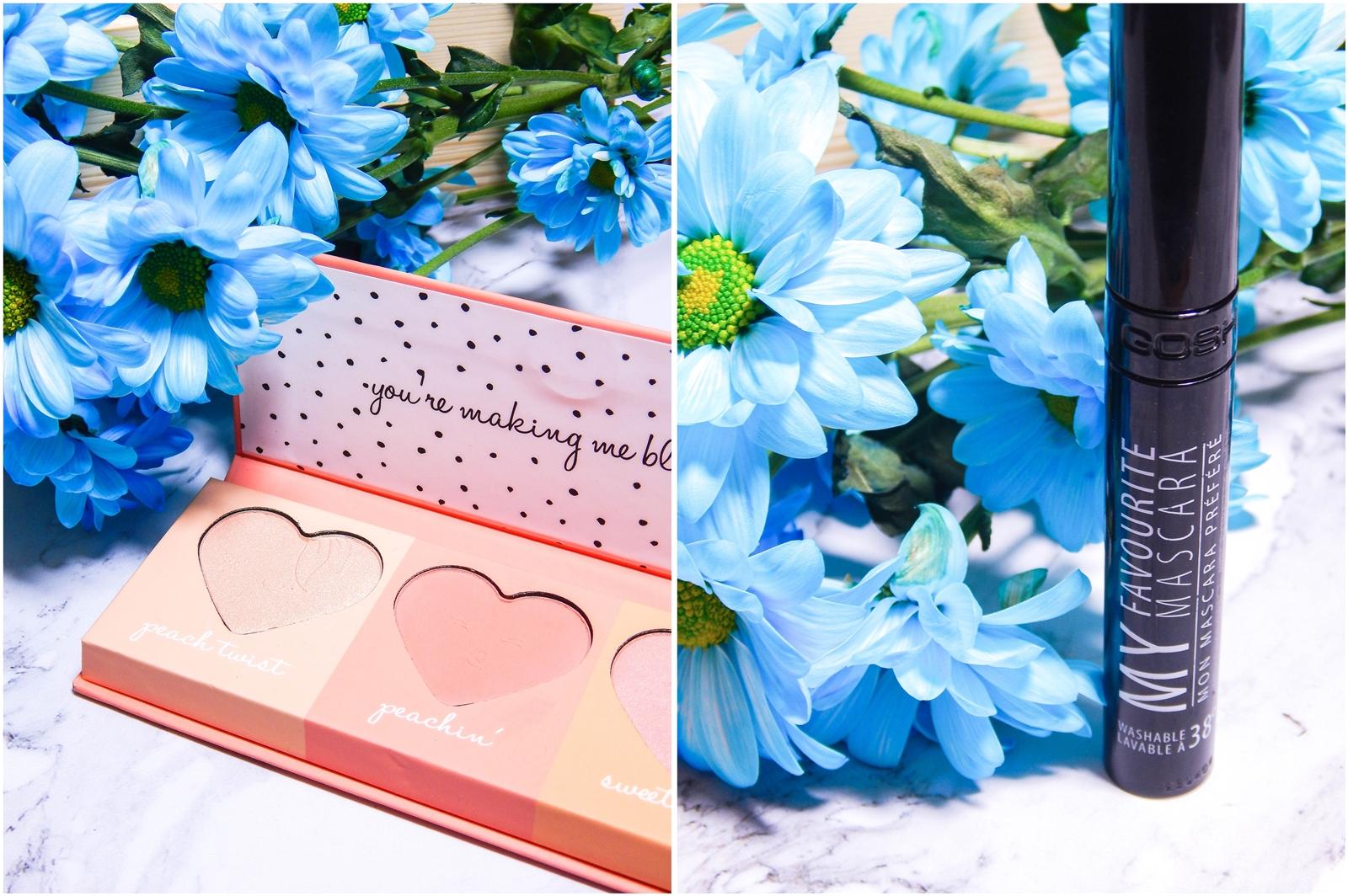 3 kosmetyki z primarka róże cheeky peachy palette gosh tusz do rzęs recenzja opinia