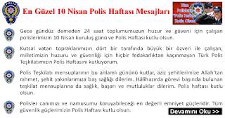 En Güzel 10 Nisan Polis Haftası Mesajları