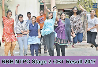 RRB NTPC Stage 2 CBT Results 2017, RRB NTPC 2nd Stage CBT Merit List 2017