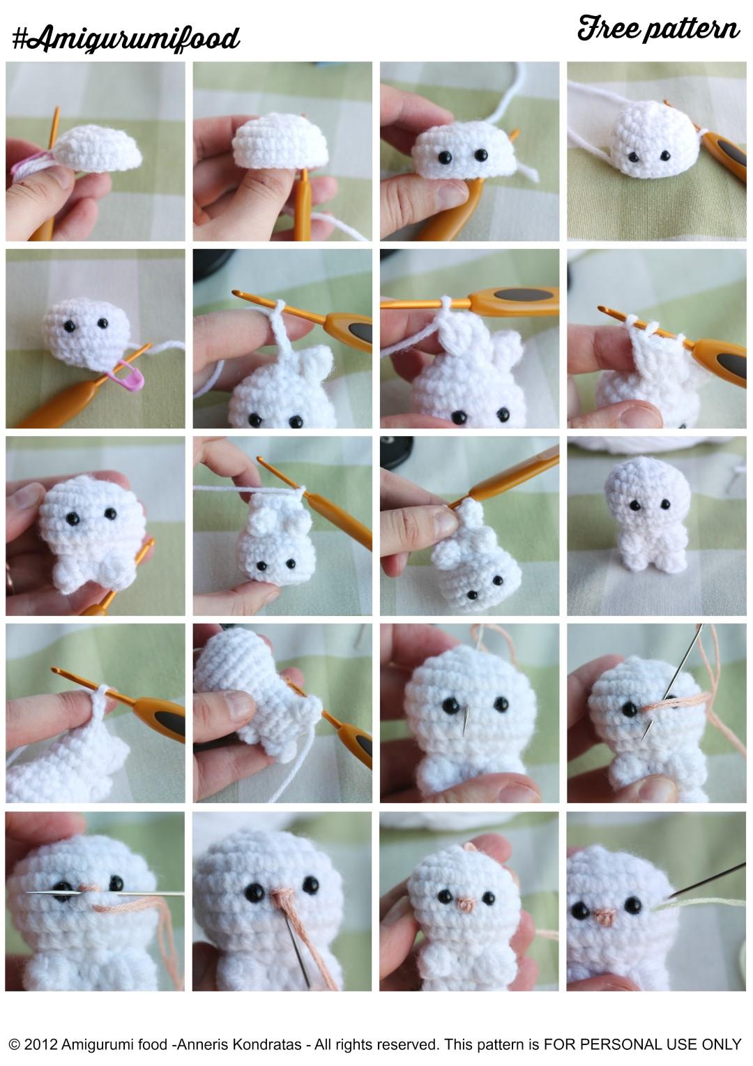 Amigurumi Food Little Easter Bunny Free Pattern Amigurumifood