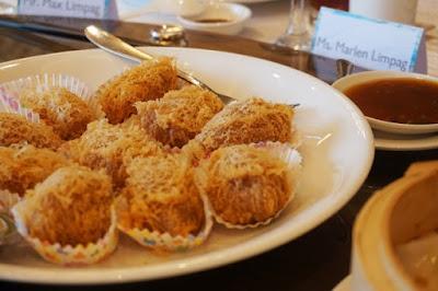 Hai Shin Lou's Taro Dumpling stuffed with Scallops