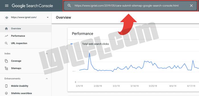 Cara Submit URL di Google Webmaster Versi Baru