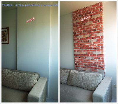 tecido na parede; reforma de casa; decoração de parede com tecido; colagem de tecido em parede