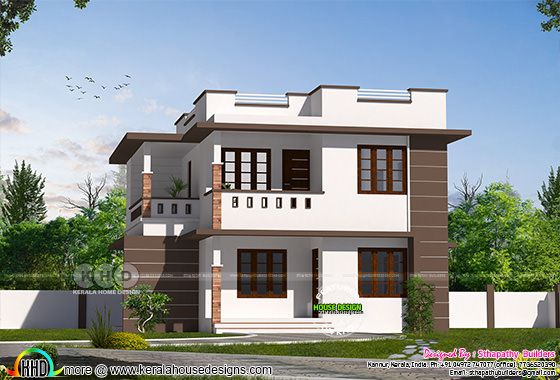 Simple style modern house rendering